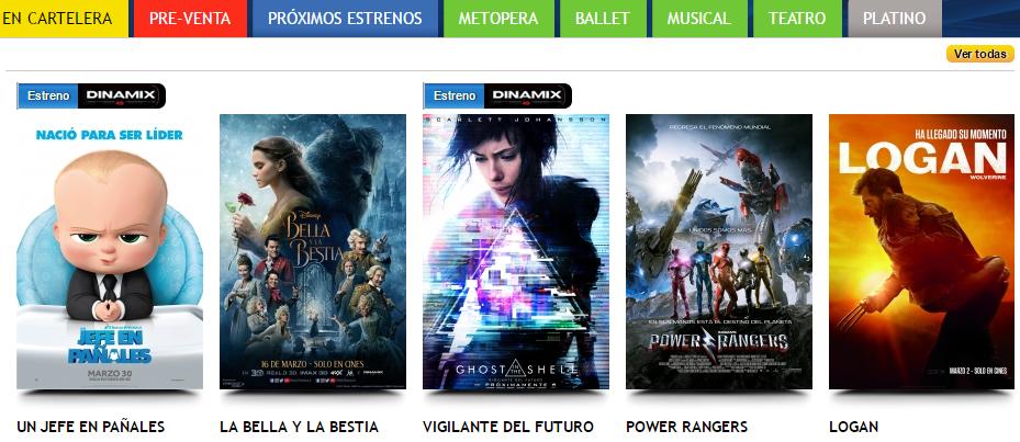 Películas en Cinecolombia