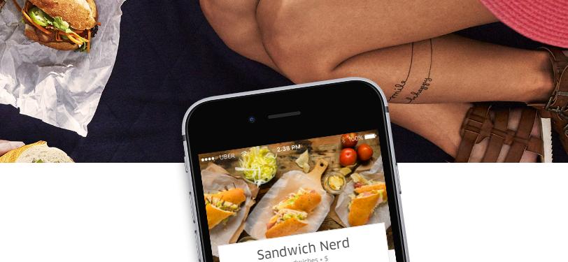 Usa el APP de Uber Eats para pedir comida a domicilio