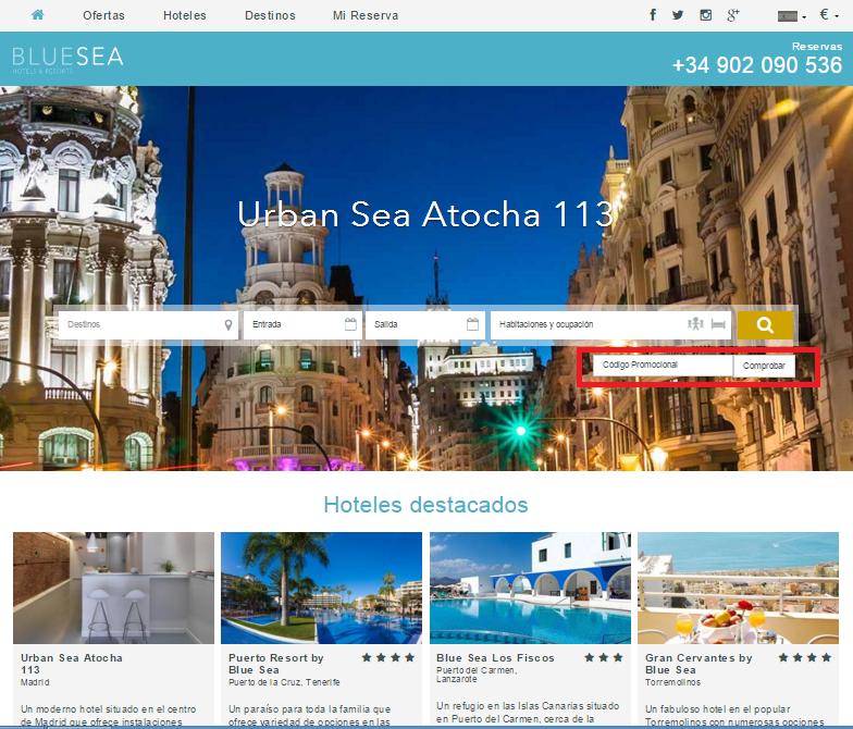 Descuento Código Promocional Blue Sea Hotels & Resort