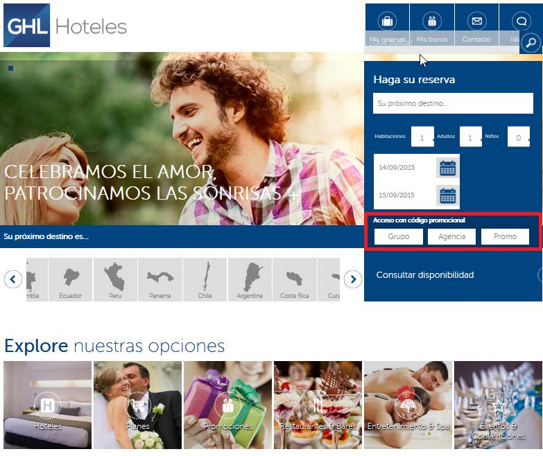 Descuento Codigo Promocional GHL Hoteles