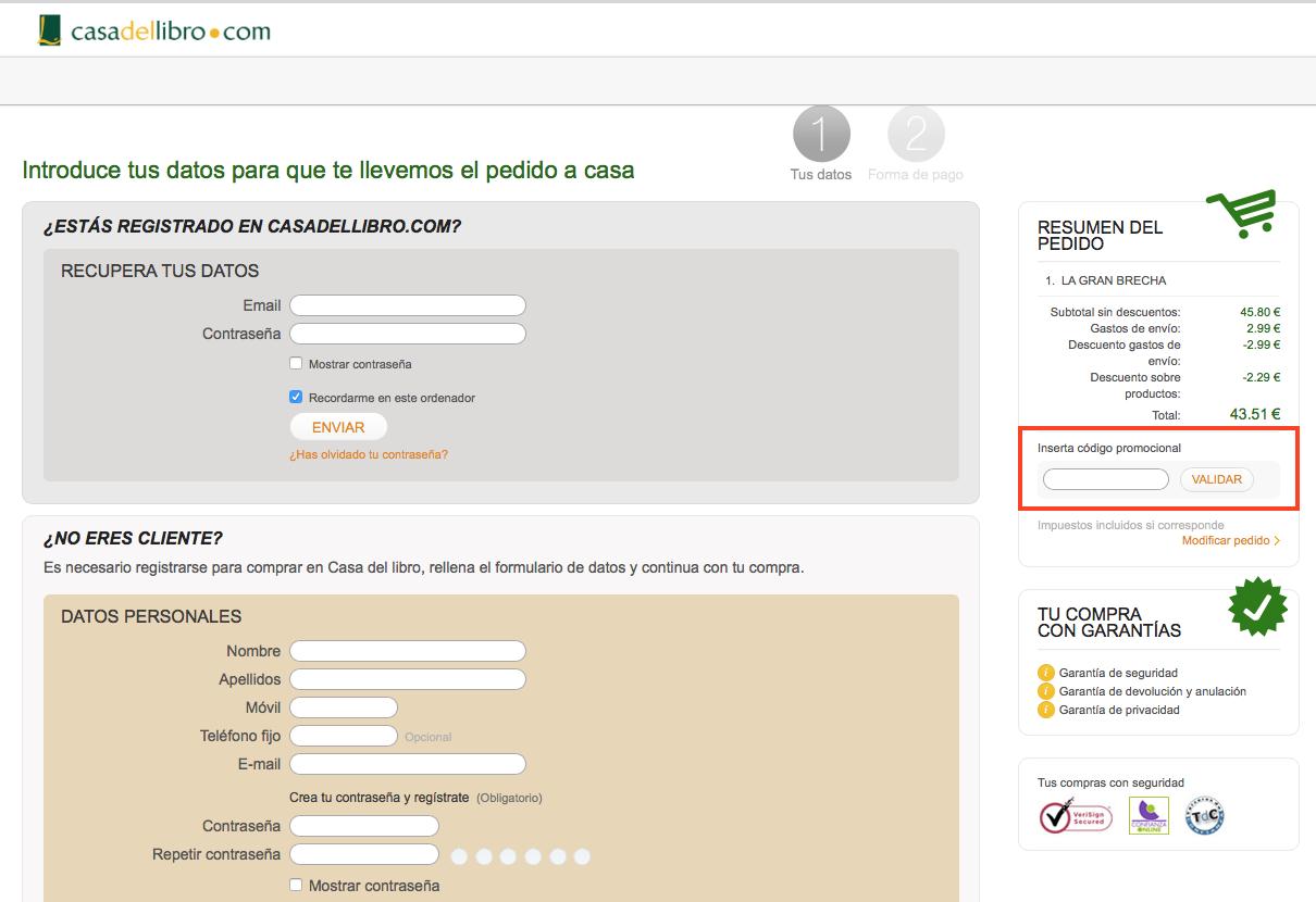 Descuento Código Descuento Casadellibro.com