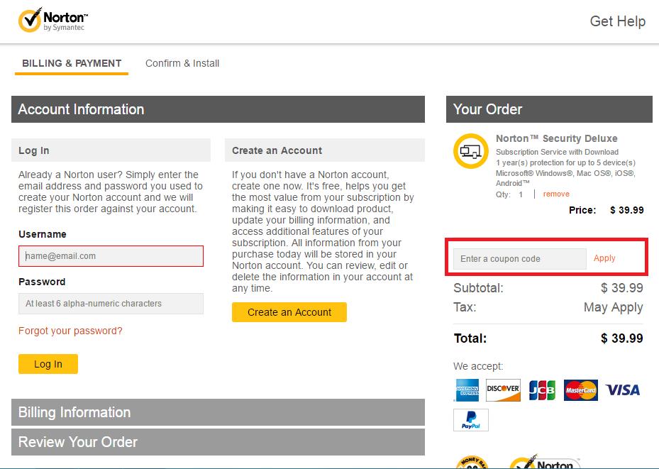 Descuento Código Descuento Norton by Symantec