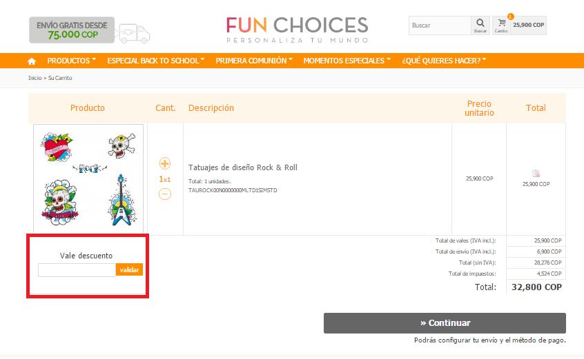 Descuento Vale Descuento Fun Choices