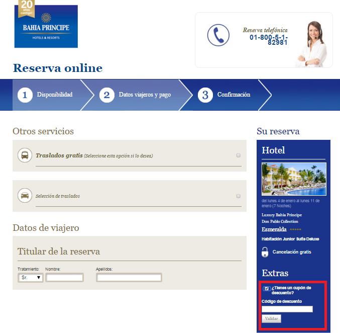 Descuento Código Descuento Bahia Principe