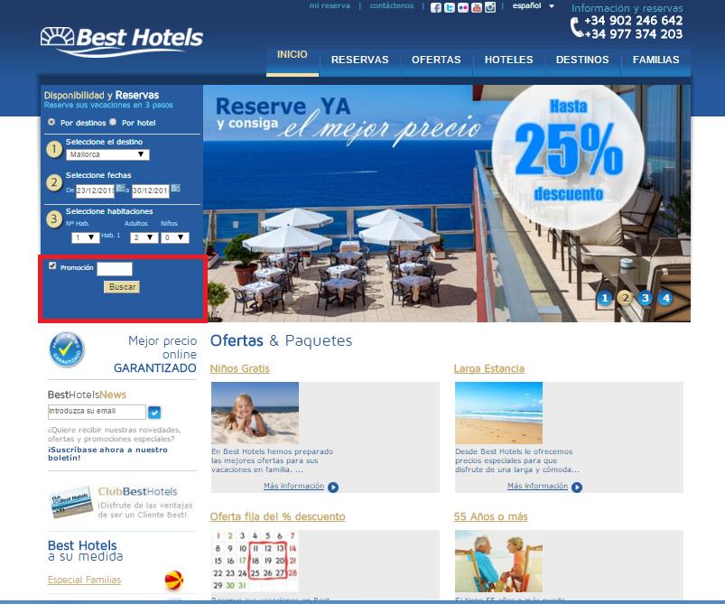 Descuento Código Promocional Best Hotels