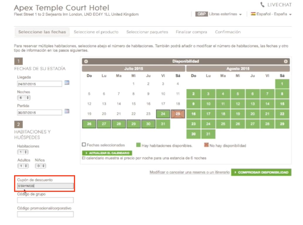 Descuento Código Descuento Apex Hoteles