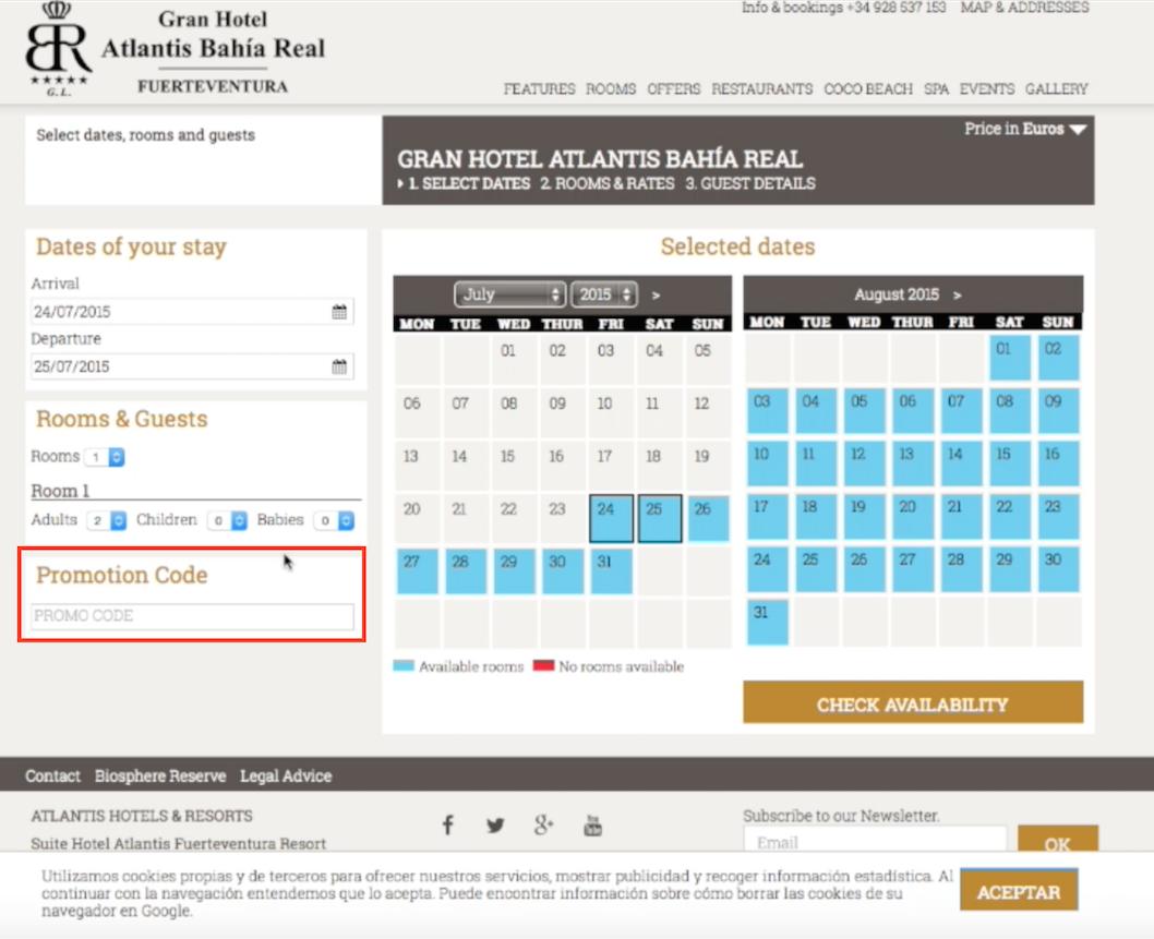 Descuento Código Promocional Atlantis Hoteles